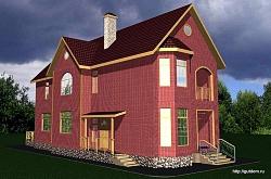 Проект двухэтажного дома СИП 16 ум