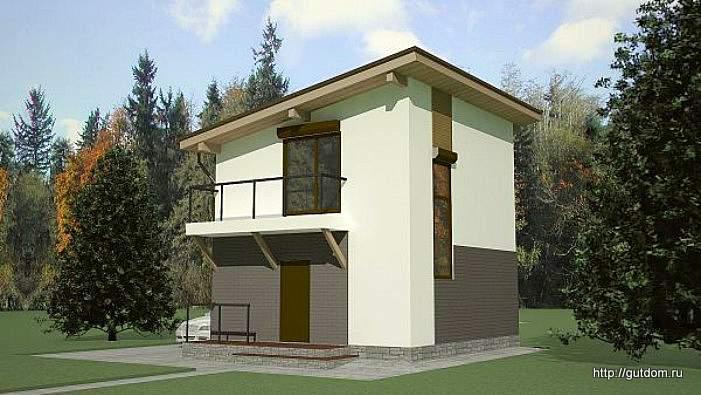 Проект двухэтажного дома СИП 41 площадью 72 м2, эскиз 3