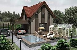 Проект двухэтажного дома СИП 60 площадью 116,1 м2, эскиз ум
