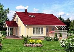 Проект двухэтажного дома СИП 75 ум
