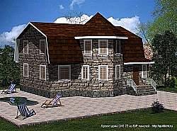 Проект двухэтажного дома СИП 77 умен
