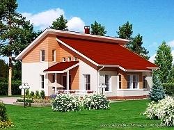 Проект двухэтажного дома СИП 80 ум