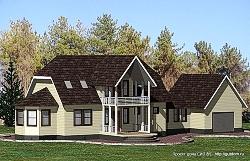 Проект двухэтажного дома СИП 81 ум