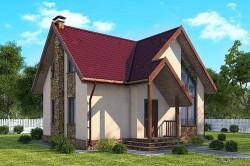 Проект двухэтажного дома СИП 91 площадью 77,9 м2, эскиз