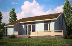 Проект одноэтажного дома СИП 100 площадью 83,6 м2, эскиз