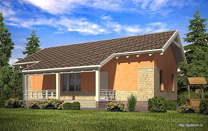 Проект одноэтажного дома СИП 104 площадью 96,1 м2