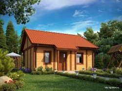 Проект одноэтажного дома СИП 120 площадью 58,6 м2, эскиз