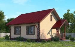 Проект одноэтажного дома СИП 19 площадью 56,74 м2