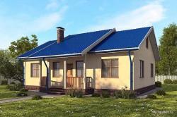 Проект одноэтажного дома СИП 21 площадью 96,6 м2, эскиз