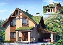 Проект одноэтажного дома с мансардой СИП 68 ум