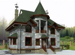 Эскизный Проект ГБ17 двухэтажного дома из газосиликатных блоков