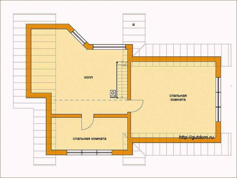 План мансарды дома Проект ГБ60