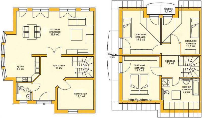 Поэтажные планы Проект ГБ72