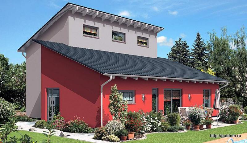дом двухэтажный из газоблоков