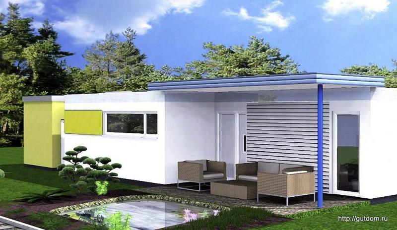 Проект ГБ57 задний фасад дома
