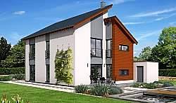 Проект двухэтажного дома из газобетона ГБ47 ум