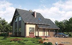 Проект дома из газобетона ГБ 75 ум