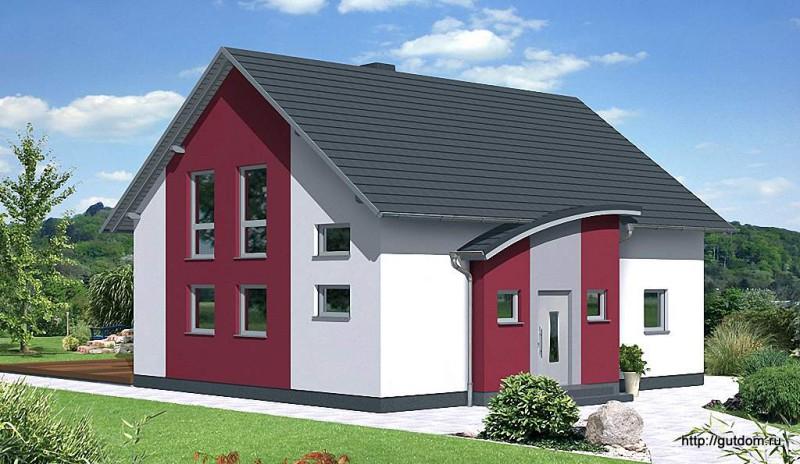 Проект дома из газобетона ГБ49-3 эскиз 3