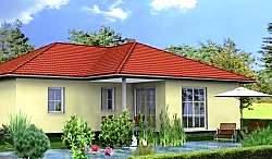 Проект одноэтажного дома из газобетона ГБ59 ум