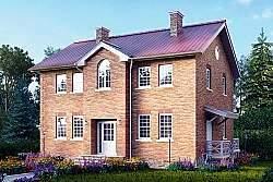 Проект Ytong двухэтажного дома ГБ85 ум