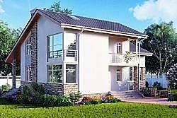 Проект Ytong двухэтажного дома из газобетона ГБ89 ум
