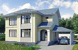 Проект Ytong двухэтажного дома из газоблоков ГБ87 ум