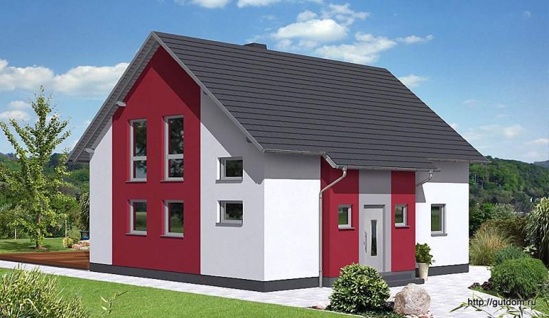 Проект Ytong дома из газобетона ГБ49-2 площадью 136 м2, эскиз 2
