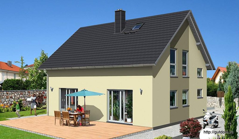 Проект Ytong дома из газобетона ГБ49-2 площадью 136 м2, эскиз 3