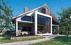 Проект Ytong дом двухэтажный из газобетона ГБ81 ум