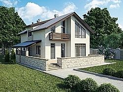 Ytong Проект двухэтажного дома из газобетона ГБ88 ум