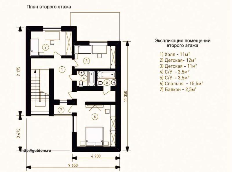 Второй этаж дома