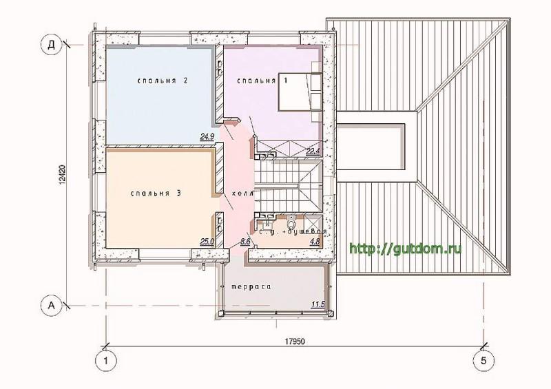 Планировка второго этажа дома