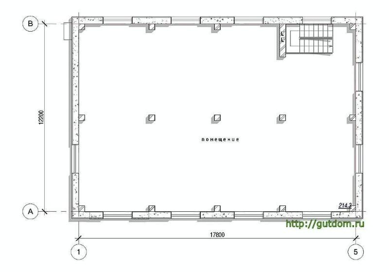 Планировка второго этажа автосервиса