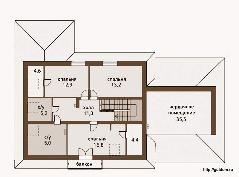 План второго этажа Проект ГБ83
