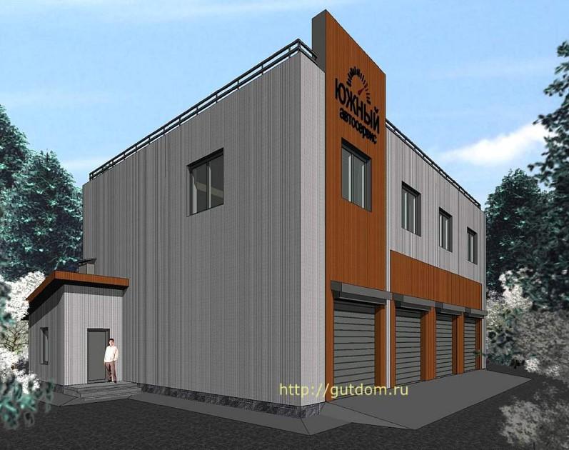 Проект гаража на четыре авто эскиз 2