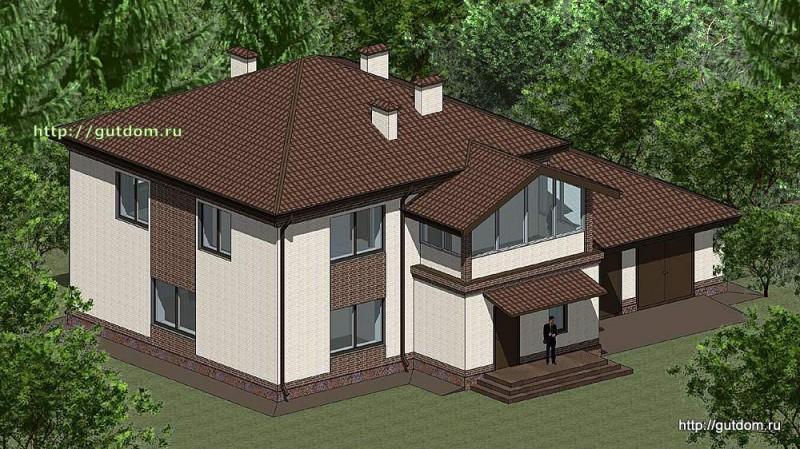 Проект двухэтажного дома Панц12 площадью 253 м2
