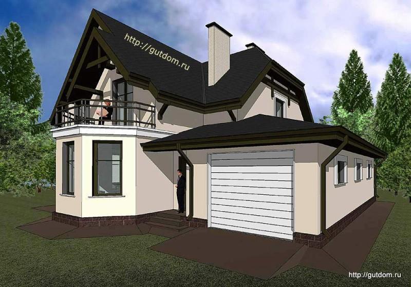 Проект двухэтажного дома Панц17 эскиз 3