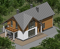 Проект двухэтажного дома Панц23 ум