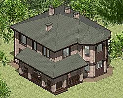 Проект двухэтажного дома Панц28 площадью 166 м2 ум