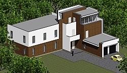 Проект двухэтажного дома из газоблоков Панц9 ум
