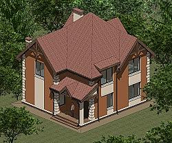 Проект двухэтажного дома площадью 135 м2 Панц33 ум