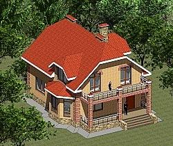 Проект двухэтажного дома площадью 166 м2 Панц27 ум