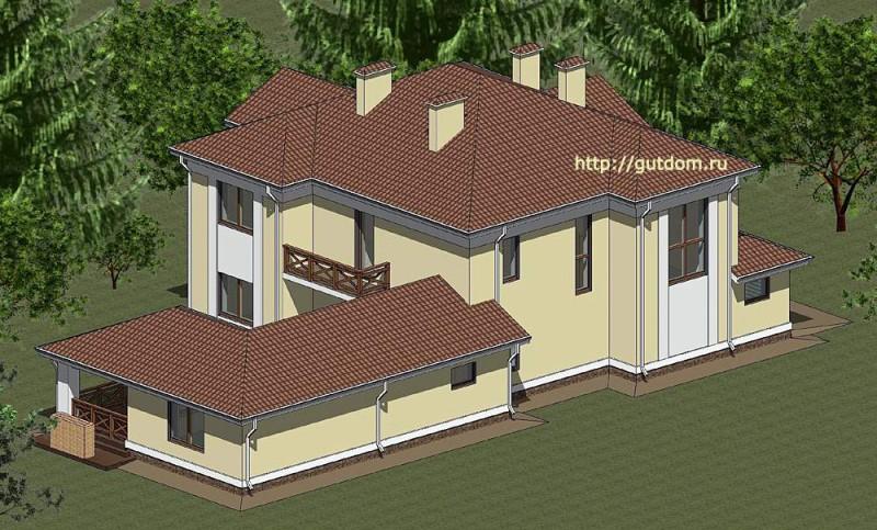 Проект элитного коттеджа Панц8 площадью 339 м2 эскиз 6