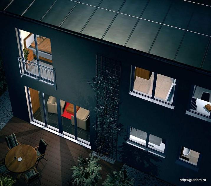 Проект Ytong ГБ53 вечерний фасад