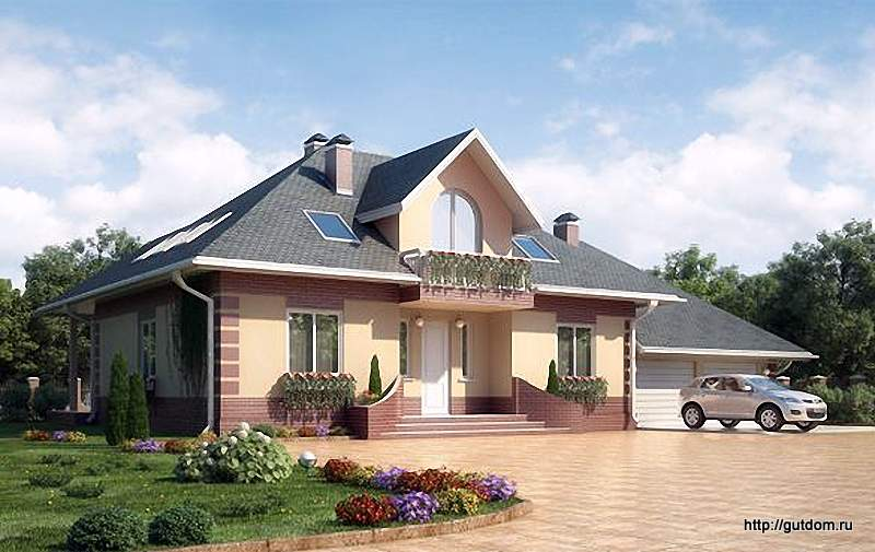 Проект Ytong дома из газобетона ГБ83 площадью 269,3 м2