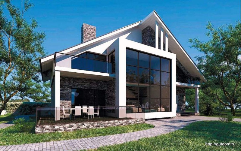Проект Ytong дом двухэтажный из газобетона ГБ81 площадью 220 м2