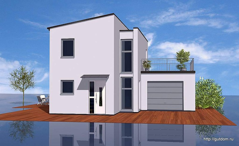 Проект двухэтажного дома из газобетона площадью 110 м2