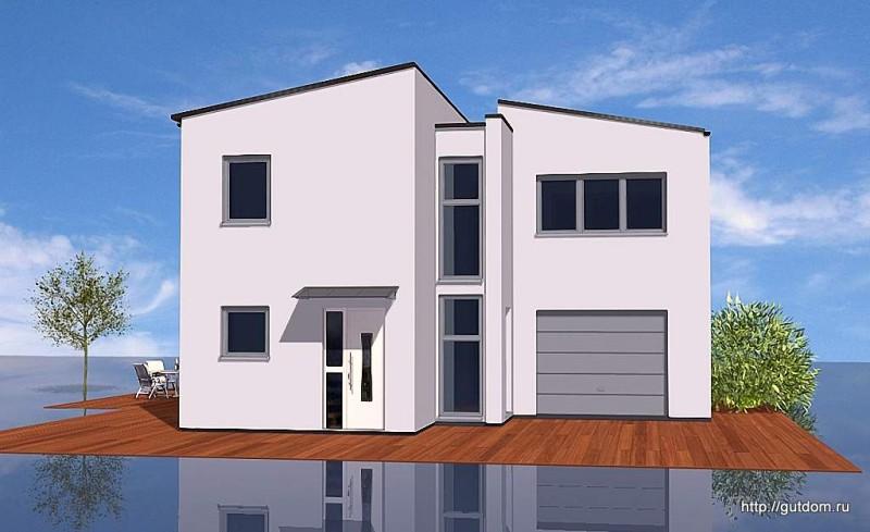 Проект двухэтажного дома из газобетона площадью 130 м2