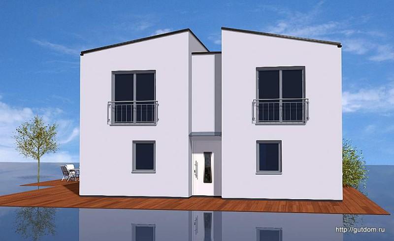 Проект двухэтажного дома из газобетона площадью 185 м2