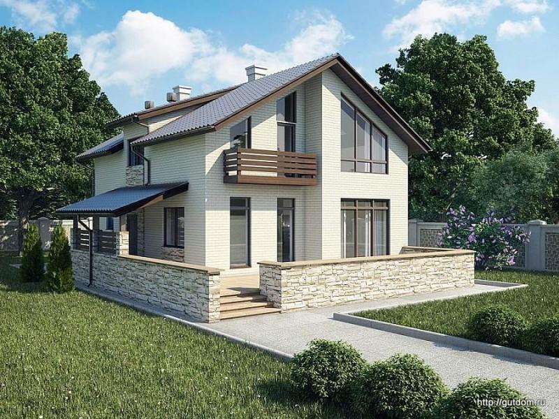 Ytong Проект двухэтажного дома из газобетона ГБ88 площадью 194,5 м2